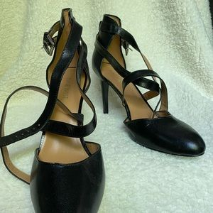 Sassy Nine West Black Heels.